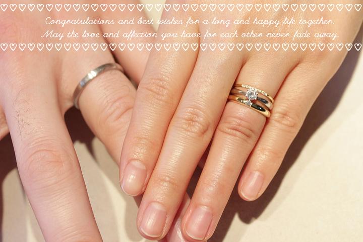 ご結婚指輪はお渡しの際に記念撮影 les desseins de DIEU