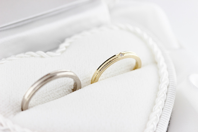 結婚式のスライド等にお使いください ご結婚指輪 写真