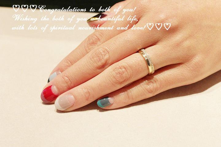 ご結婚の記念に結婚指輪撮影 レデッサンドゥデュー