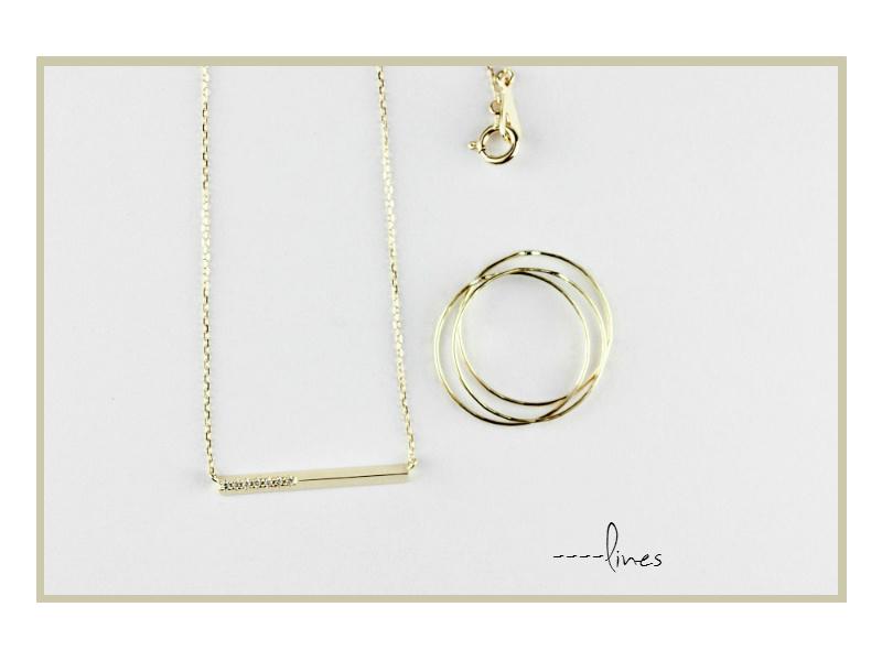 直線と曲線が美しい ゴールドジュエリー les desseins de DIEU