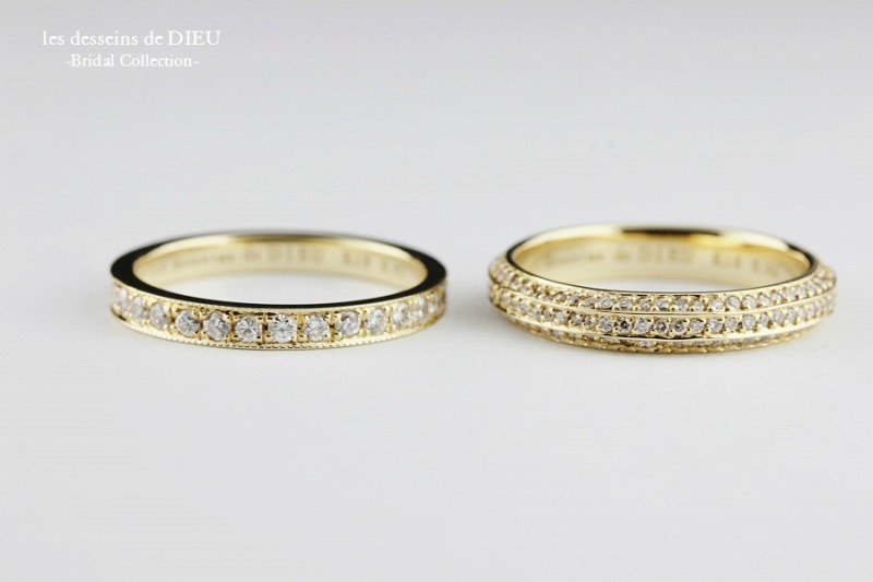 "les desseins de DIEU -Bridal Colleciton-  ボリューム感のあるフルエタニティ  ""Love Goes On"" &""Luxe"""