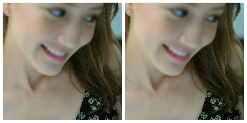 with or without necklace?