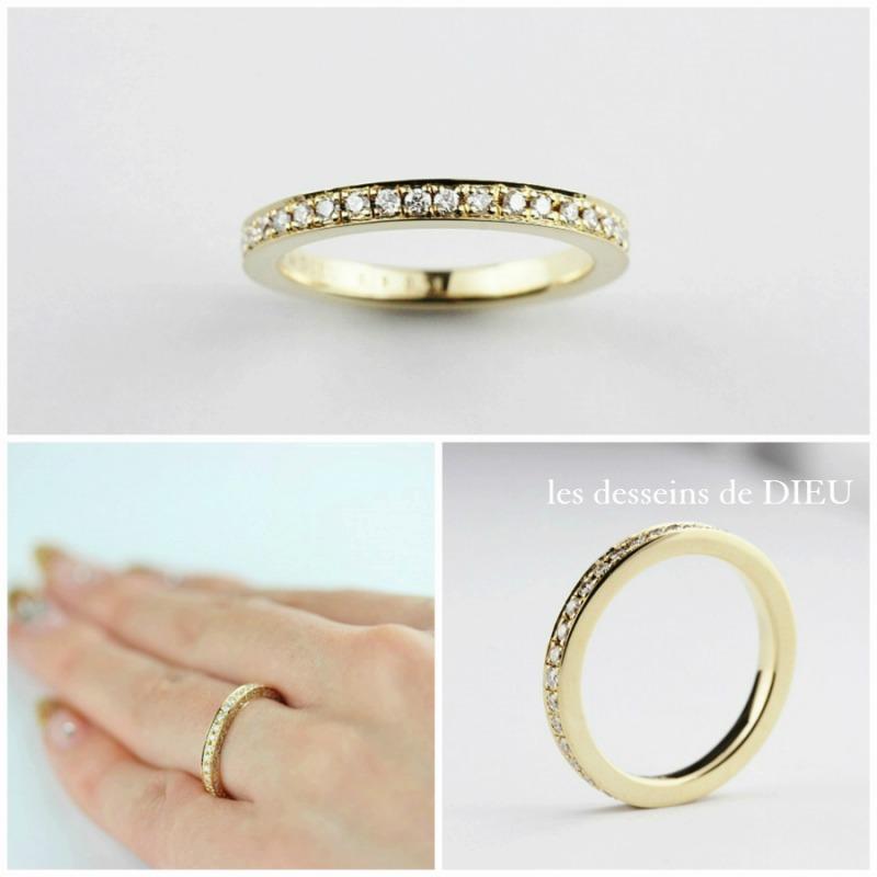 """les desseins de DIEU Bridal Jewelry Fair~""""Félicité"""" フェリシテ 最上の幸せ、至福を祝福するフルエタニティ・リング"""