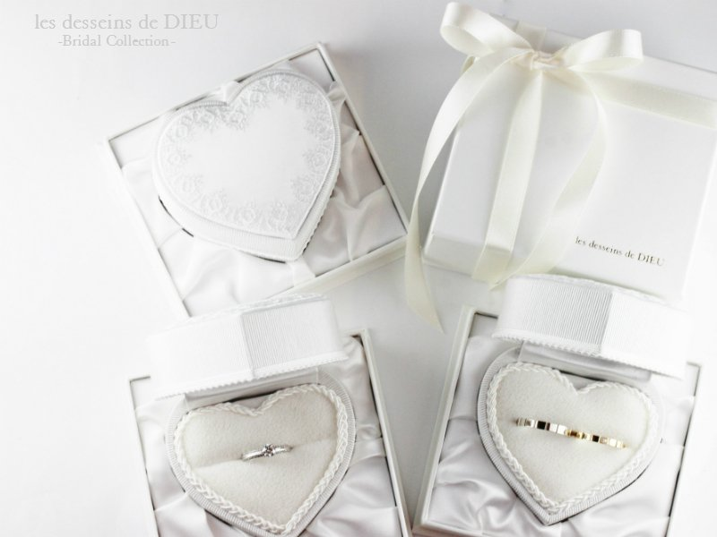 bridal jewelry-heart shape box