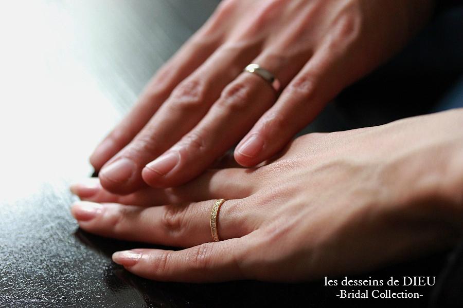 """~Otemoto~ O様ご夫婦のマリッジリング ☆シンプルなホワイトゴールドの平打ちリングとイエローゴールドのフルエタニティ☆  """"vérité""""&""""Love Goes On"""""""