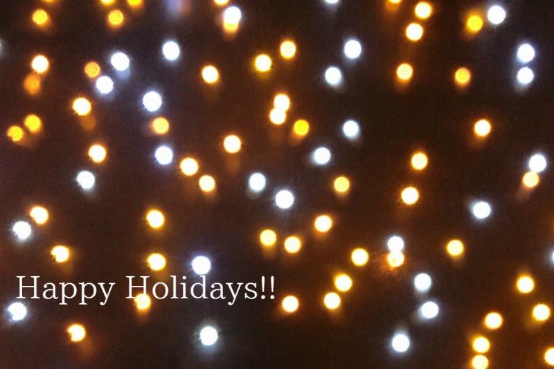Happy Holidays!!  ~年明けは1/4(日)の15:00以降からの営業開始となります~