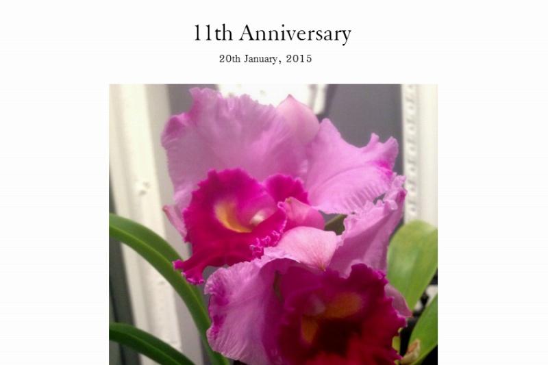 11th Anniversary  2015年1月17日で11年目を迎えました。