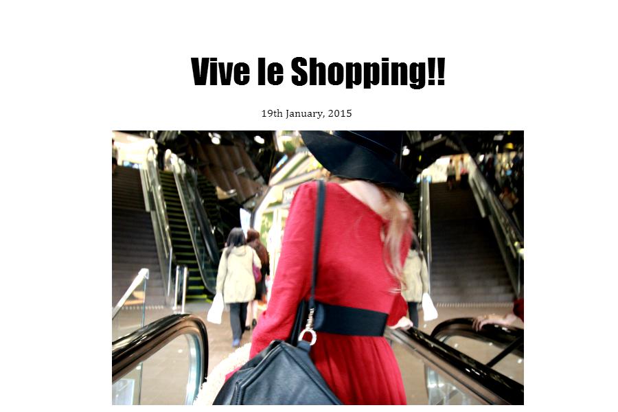 vive le shopping