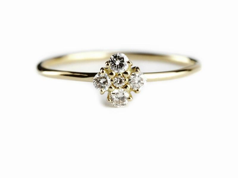 les desseins de DIEU 173r9 Flora Cinq Diamond Ring