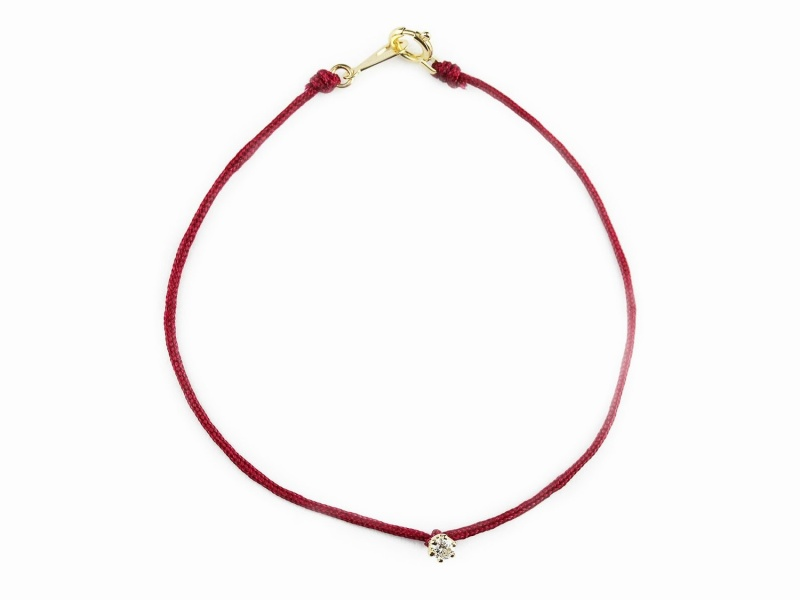 """Bell Dia"" Satin Cord Bracelet"