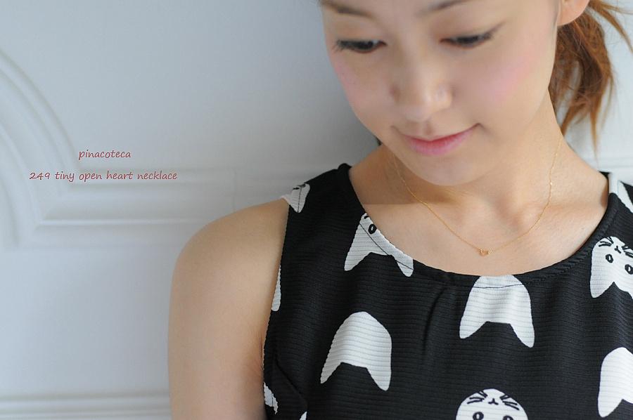 オープン ハート 華奢ネックレス 女性に喜ばれる プレゼント アクセサリー ブランド