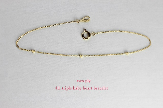 two ply411 triple baby heart bracelet