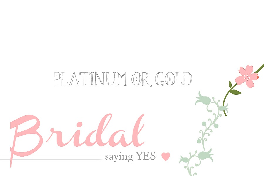 platinum or gold
