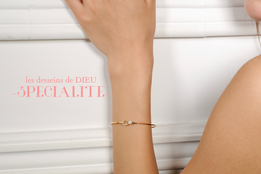 les desseins de DIEU SPECIALITE-   ~Fine Gold Hook Diamond Bangle Specialite~ オトナを満足させるグララマラスなバングル