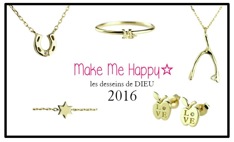 """本年もよろしくお願い申し上げます。  """"Make Me Happy""""     願掛けジュエリー☆.。.:*・"""