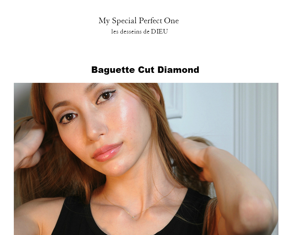 """My Perfect Special One"" 第2弾 販売開始  two ply Baguette Cut Diamond Necklace トゥープライ バゲットカット ダイヤモンド ネックレス"