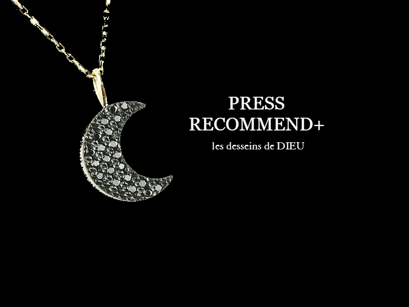 "PRESS RECOMMEND+ Volume2. 晩夏初秋に活躍する ~クレセント・ネックレス~ two ply 258 ""Lune Noir"" Crescent Moon Necklace"