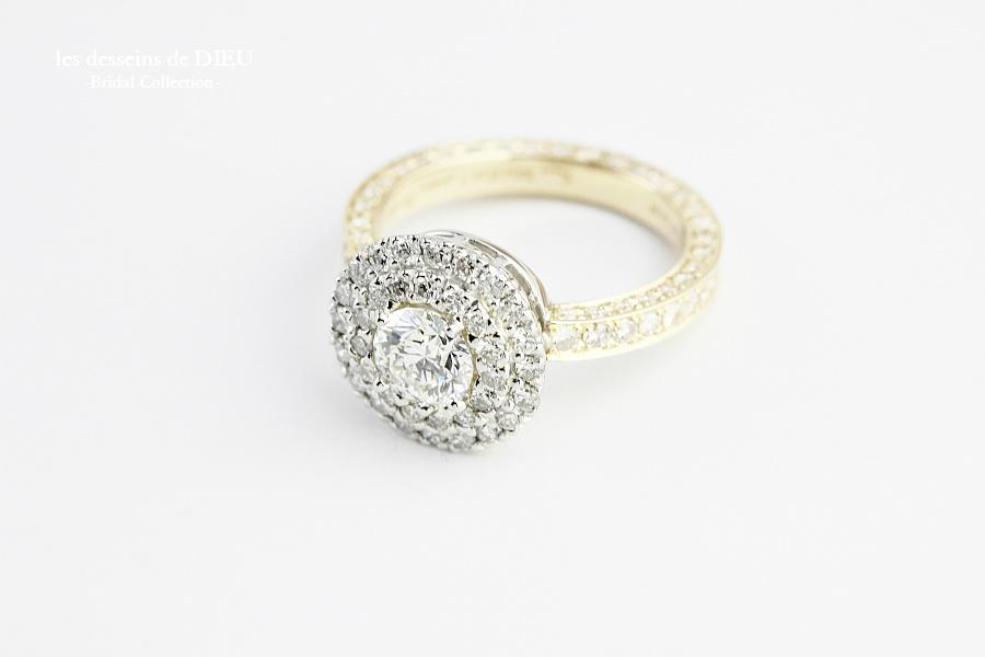 les desseins de DIEU Engagement Ring 婚約指輪 ブライダル リング ハンドメイド フルオーダー レデッサンドゥデュー 18金 プラチナ happy wedding