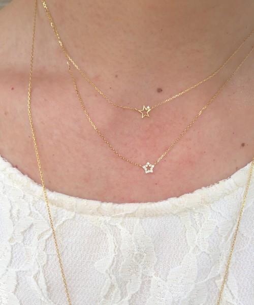 人気 アクセサリー ランキング 18金 ゴールド K18 ブランド ピナコテーカ レデッサンドゥデュー スター 星 ダイヤモンド