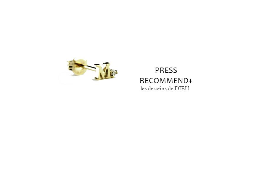 """PRESS RECOMMEND+ Volume14.プチギフトなら  1万円アンダーの""""タイニーイニシャル""""スタッドピアスがお薦めです★"""