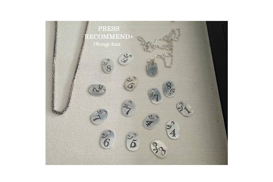 PRESS RECOMMEND+ Volume 15. 毎日売れている メンズのナンバーネックレス 28vingt-huit 770 La Kabbalah Numero