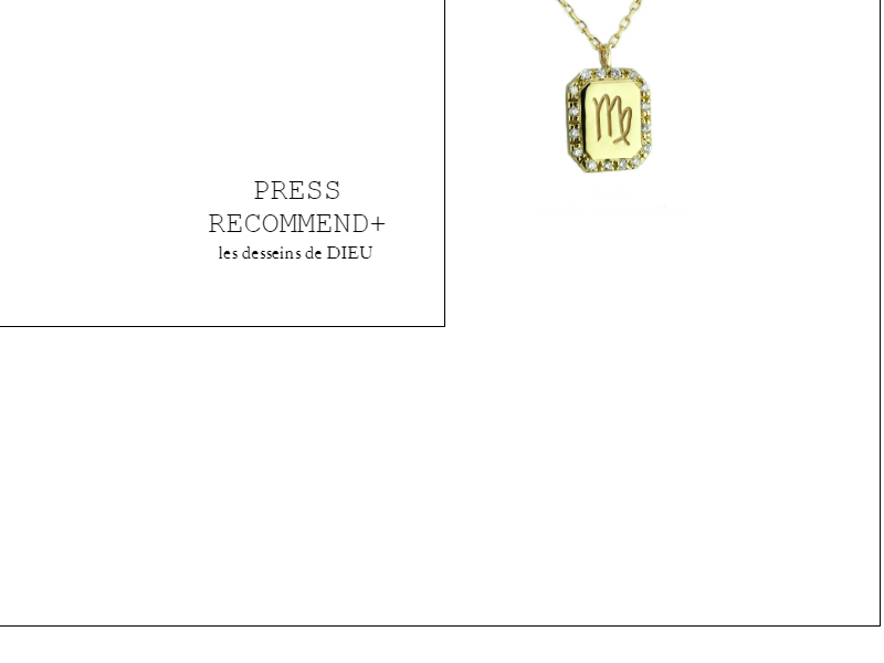 PRESS RECOMMEND+ Volume9. お守り感覚で着けたい 願いを叶えてくれそうなパーソナルオーダーネックレス ~ゾディアック ダイヤモンド ネックレス~ two ply318 zodiac diamond necklace