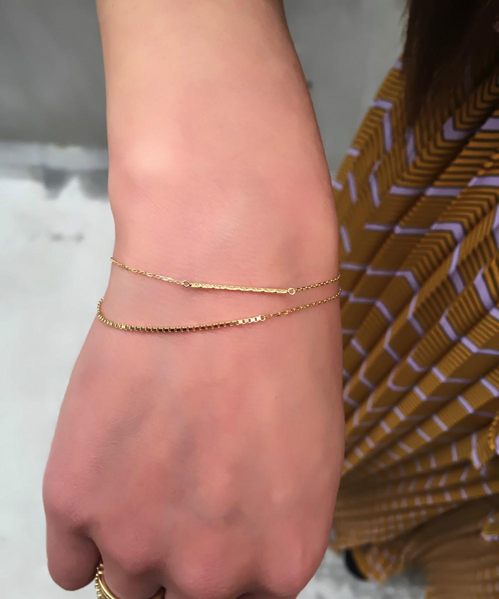 チェーン ブレスレット シンプル プレゼント 18金 ゴールド 女性が喜ぶプレゼント 人気ブランド ピナコテーカ スキンジュエリー