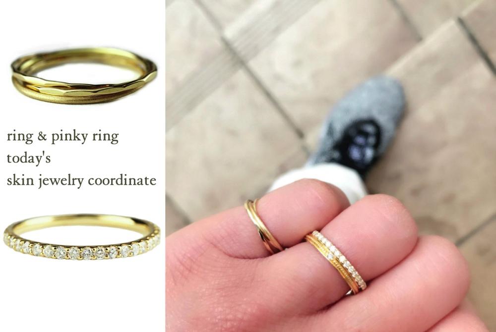 重ね付け 可愛いアクセサリー レディース 結婚指輪 コーディネート 華奢アクセサリー ゴールド お洒落な指輪 リング ピンキーリング 人気ブランド お薦めコーデ ピナコテーカ レデッサンドゥデュー
