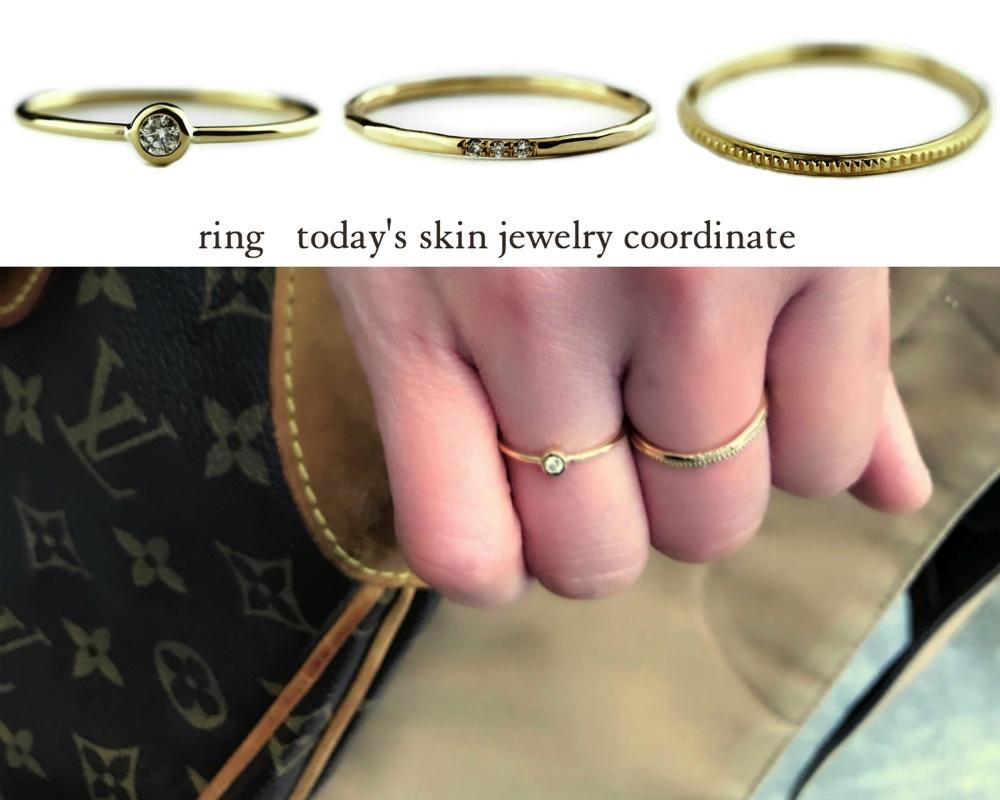 重ね付け 可愛いアクセサリー レディース リング コーディネート 華奢アクセサリー ゴールド お洒落なリング 指輪 人気ブランド お薦めコーデ ピナコテーカ ト レデッサンドゥデュー