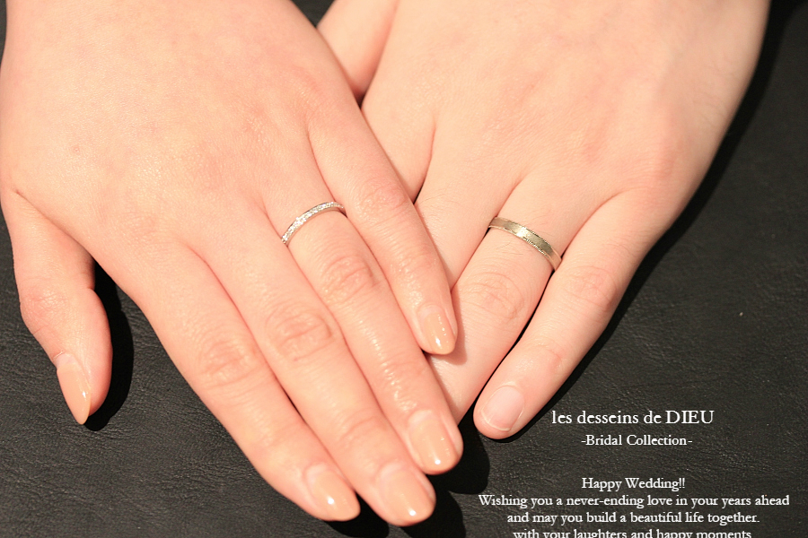 "~Otemoto~ Wedding Band: K様のマリッジリング les desseins de DIEU ""The Timeless Love"" & ""Love Goes On"""