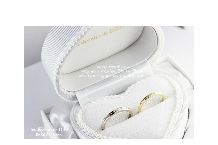 "~Otemoto~ les desseins de DIEU  Wedding Band:  T様ご夫妻のマリッジリング ""Serene Love"""
