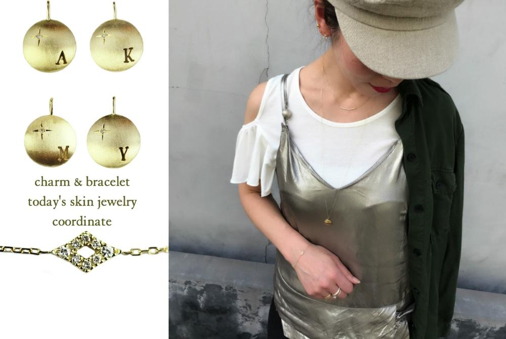 可愛いアクセサリー レディース コーディネート 華奢アクセサリー ゴールド お洒落な ネックレス ブレスレット ボリューム感 40代 アラフォー 重ね付け 人気ブランド お薦めコーデ ピナコテーカ レデッサンドゥデュー