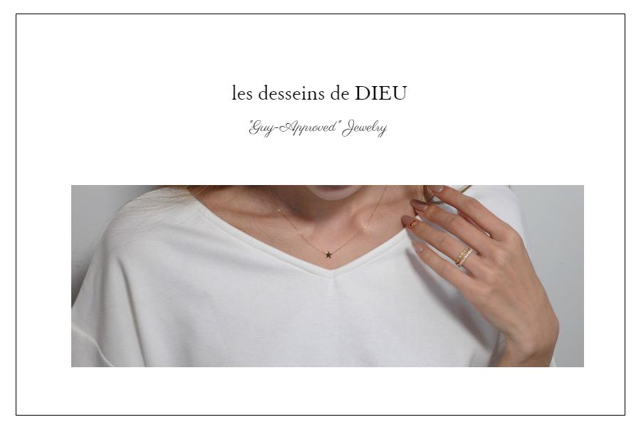 """【男性が認めるネックレス】 華奢ネックレスがやっぱり良い?  les desseins de DIEU """"Guy-Approved"""" dainty necklace"""