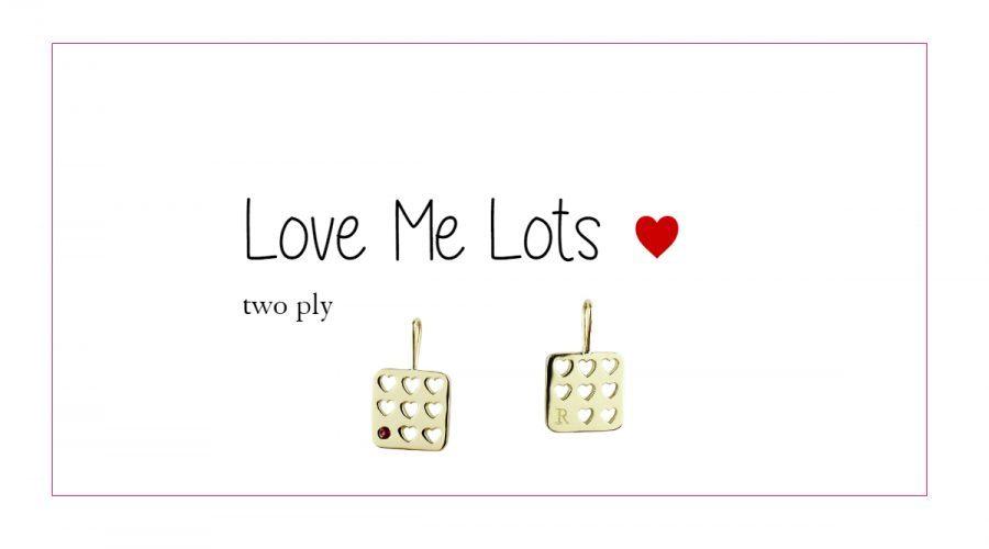 """好きなイニシャル、ナンバーや誕生石でカスタマイズできるチャーム ★スペシャル・ジュエリー★     -two ply """"love me lots"""" charm-"""