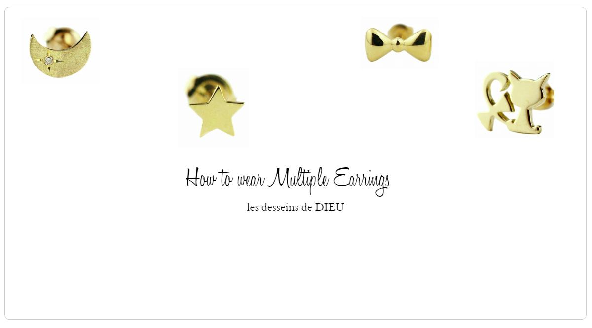可愛いものは全部着けたいから ピアスは片耳ずつ選びたい  How To Wear Multiple Earrings