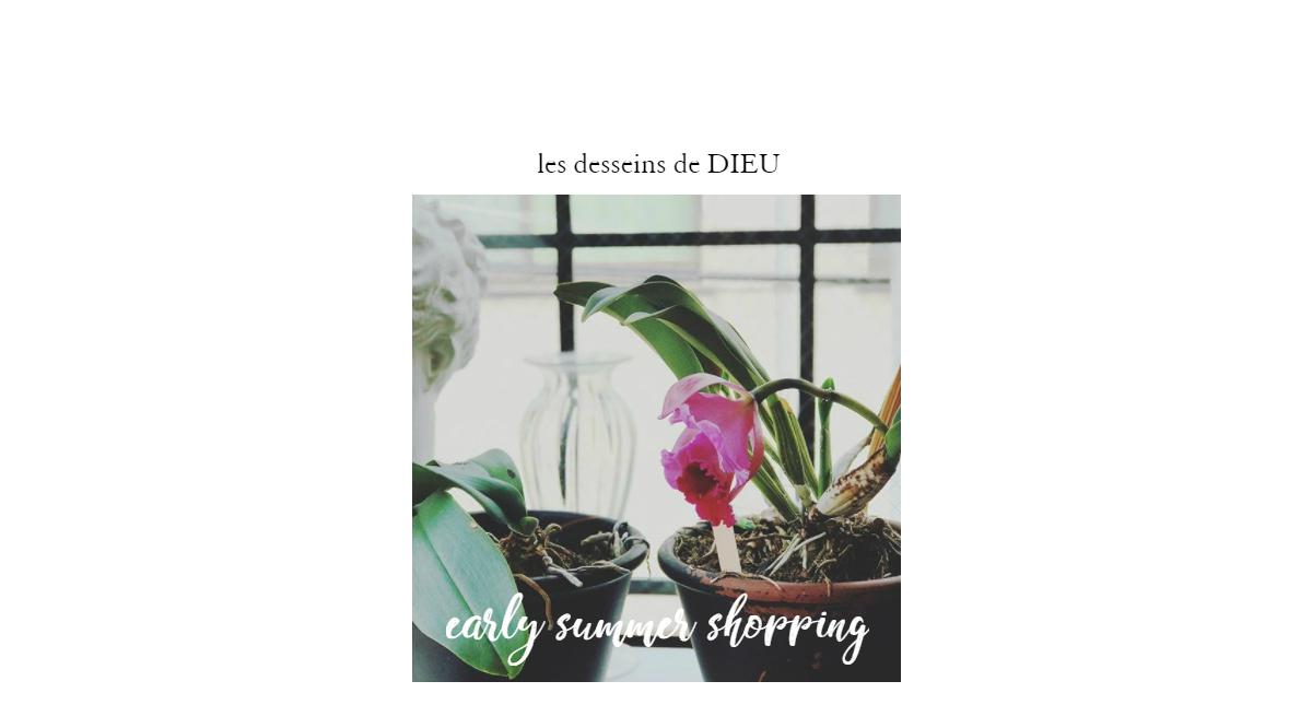 新しい髪型やメイク、新しいお洋服や小物を選んだら 新しいジュエリーが欲しい!  【初夏のジュエリーのお買い物】les desseins de DIEU -Early Summer Shopping-