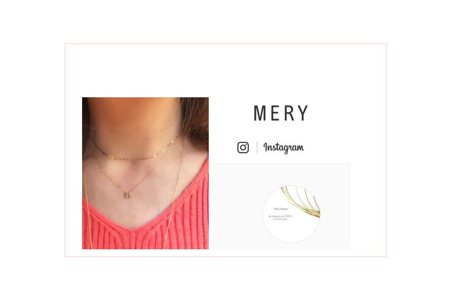 MERY掲載 Instagram ネックレスコーデ: 『ネックレスも重ねていこ?首元を華奢で女らしく見せてくれるテクニック集♡』